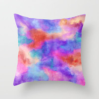 Cake Throw Pillow by Erin Jordan