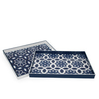 Pair of Melamine Trays by Three Hands at Gilt