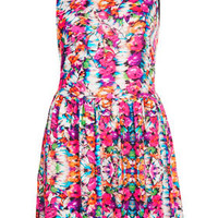 Summer Floral Flippy Dress - Dresses  - Clothing