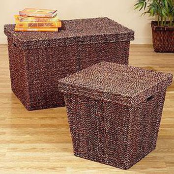 Marled Seagrass Trunk And Cube Storage From Cost Plus World