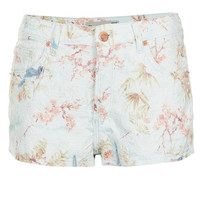 MOTO Floral Jacquard Hotpants - Shorts - Clothing - Topshop USA