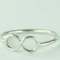 Infinity Symbol Ring Sterling Silver Infinity Ring - READY-TO-SHIP-...... | ExCognito - Jewelry on ArtFire