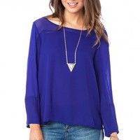 Thayer Top in Royal - ShopSosie.com