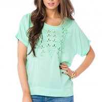 Eveton Tee in Mint - ShopSosie.com