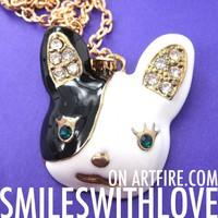 ONE DOLLAR SALE - Puppy French Bulldog Dog Animal Charm Necklace