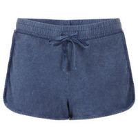 Acid Wash Side Panel Shorts