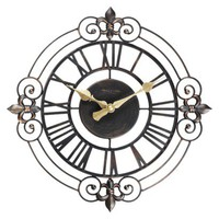Threshold™ Iron Paris Gate Clock