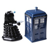 TARDIS v. Dalek Salt and Pepper Shakers - Whimsical & Unique Gift Ideas for the Coolest Gift Givers