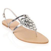 clustered gem sandal with ankle strap - 1000045267 - debshops.com