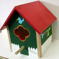 Birdhouse- Happy Home for birds with this hand crafted yard decor