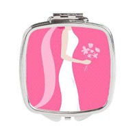 Bridal Square Compact Mirror - Bride Gifts - Lesruba Weddings