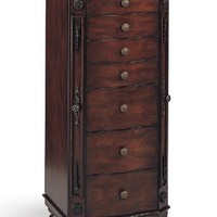 Beautiful Deep Brown Finish Deluxe Jewelry Armoire