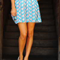 There Is Still A Spark Skirt: Blue/Pink | Hope's