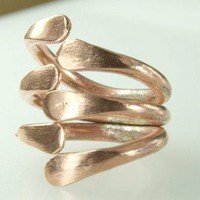 Spine Copper Ring large Ring by ExCognito on Zibbet