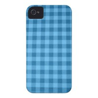 Checkered Blue Case-Mate iPhone 4 Cases from Zazzle.com