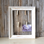 Shabby Chic White Wooden Frame With Wire and Clothes Pins