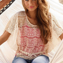 Lace Drawstring Circle Top