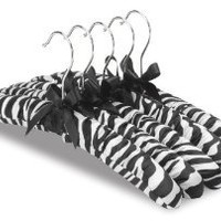 Amazon.com: Zebra Whitmor Satin Padded Hangers, set of 10: Home & Kitchen