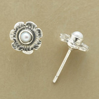 PEARL BLOSSOM EARRINGS         -                  Stud         -                  Earrings         -                  Jewelry                       | Robert Redford's Sundance Catalog