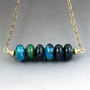 Aqua / Turquoise Beaded Necklace with Chrysocolla Gemstones