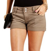 Olive Cuffed Shorts