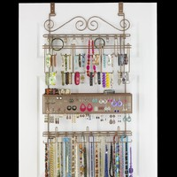 Overdoor/Wall Jewelry Organizer in Bronze by Longstem - Unique patented product - Rated Best