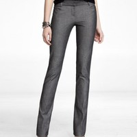 STUDIO STRETCH HERRINGBONE SLIM LEG COLUMNIST PANT