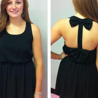Black Bow Back Dress