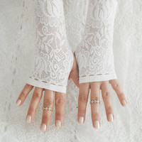 Bridal glove, Wedding glove, Belly Dance, Fetish, Bridal, Lolita, white lace glove