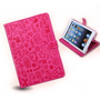 Magic Girl Little Witch Series PU Leather Stand Case Cover iPad Mini (Rose red)