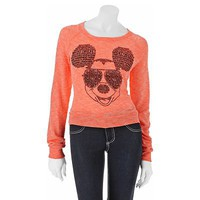 Jerry Leigh Mickey Mouse Cuffed Top - Juniors