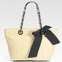 Kate Spade New York - Coal Small Straw Shoulder Bag