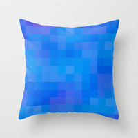Re-Created Colored Squares No. 60 Throw Pillow by Robert Lee