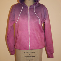 Pink and Purple Dip Dye Hoodie Sweater Summer Fashion hooded Jumper Oversize