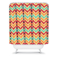 DENY Designs Home Accessories | Budi Kwan Fractal Mountains Candy Shower Curtain