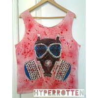 Diamond Gas Mask Tank Top or Tshirt