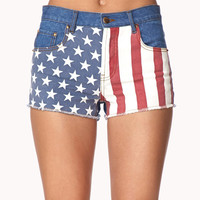American Flag Denim Cut Offs