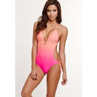 Amazon.com: La Hearts Womens Cutout One Piece: Clothing