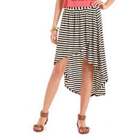 Striped Hi-Low Knit Skirt: Charlotte Russe