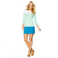 C. Wonder | Colorblock Stripes Boatneck Tee Dress