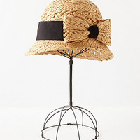 Bowed Straw Cloche