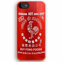 Sriracha Cute Red HOT Chili Sauce Bottle apple iphone 5, iphone 4 4s, iPhone 3Gs, iPod Touch 4g case by Pointsalestore .com