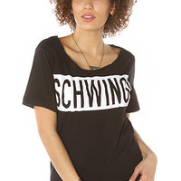 Kill Brand SCHWING SCOOP NECK TOP