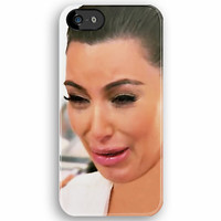 Funny Cute Kim Kardashian Ugly Crying Face Photograph 2 apple iphone 5, iphone 4 4s, iPhone 3Gs, iPod Touch 4g case by Pointsalestore .com