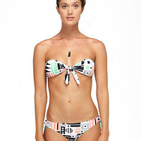 DVF Loves Roxy Knotted Bandeau Bikini Top