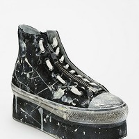 BESS X UO Distressed High-Top Flatform-Sneaker