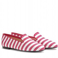 mytheresa.com -  Tod's - STRIPED SLIPPER-STYLE LOAFERS  - Luxury Fashion for Women / Designer clothing, shoes, bags