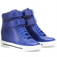 mytheresa.com -  Marc by Marc Jacobs - CONCEALED WEDGE LEATHER SNEAKERS  - Luxury Fashion for Women / Designer clothing, shoes, bags