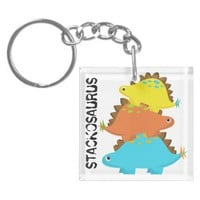 Stack of Stegosaurus Keychain from Zazzle.com