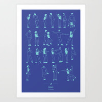 Friends: The Routine Art Print by Niege Borges
